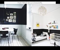 peindre mur chambre peindre le mur en 2 couleurs