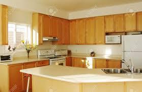 modernes haus innenausstattung neue küche mit ahorn schränke