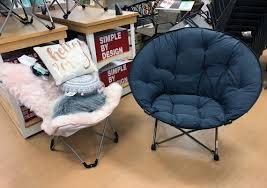 Kohls Metal Folding Chairs by Simple By Design Memory Foam Butterfly Chair Only 39 99 At