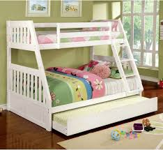 white twin over full bunk bed with trundle twin over full bunk