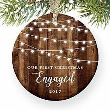 Christmas Tree Amazonca by Engagement Gifts First Christmas Engaged Rustic Newly Engaged