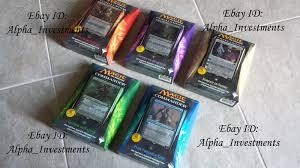 Premade Commander Decks 2016 by Mtg Commander Set Magic The Gathering Ebay