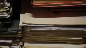 Stacks Of Old Papers Office Documents Paper Work Stock Footage Video 13369073