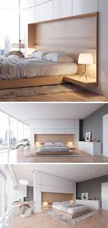 Fixed Headboard And Fixtures Would Be Cool In The Master Bedroom Design Idea