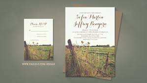 Read More RURAL FENCE BARBED WIRE RUSTIC WEDDING INVITATIONS