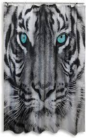 roller duschvorhang tiger schwarz weiß 180x200 cm
