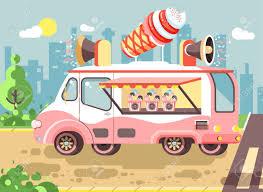 100 Snack Truck Vector Illustration Cartoon Car With Refrigeration Unit
