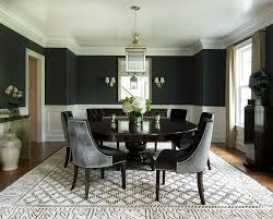 View In Gallery Contemporary Dining Room With Splashes Of Black Design Roughan Interior