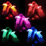 6 pairs led shoelaces light up shoe laces with 3