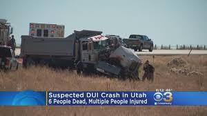 Officials: Suspected DUI Crash Kills 6, Injures Many In Utah « CBS ...