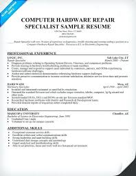 Computer Hardware Repair Specialist Resume Store Manager
