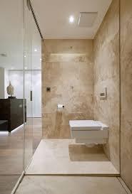 offenes bad in travertin mit begehbarer dusche bäder