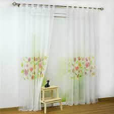 gardinen vorhänge weiß schlaufenschals deko gardinen