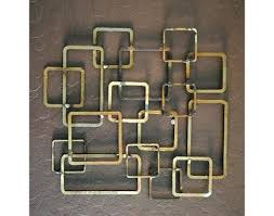 Mid Century Modern Metal Wall Art Please Wait For To Load Retro Sculpture