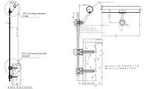 Glass Railing Detail Frameless Dwg