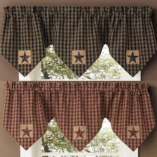 Primitive Living Room Curtains by Primitive Curtains And Country Valances For Country Home Decorating