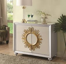 Coaster Curio Cabinet Assembly Instructions by 950709 Mirrored Doors Cabinet In Silver Tone By Coaster