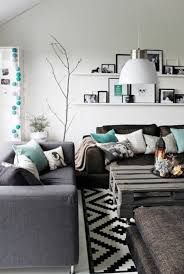Gray Turquoise Living Room White Black Simple Modern Minimal Boho Rustic On Beautiful Beach