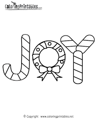Xmas Coloring Pages Printable Christmas Joy Page A Free Of