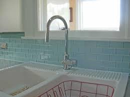 inspirations kitchen backsplash glass tile blue vapor glass subway