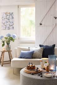 frühherbstliche deko in blautönen wunderschön gemacht
