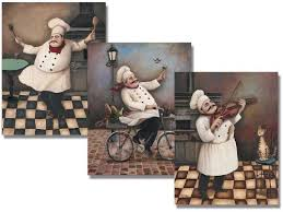Amazon Three Jolly Chef 8x10 Inches Poster Set Kitchen Stickers Wall Decor Posters Prints