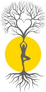 Yoga Tree Silhouette Vector Clipart Graphic By DG RA