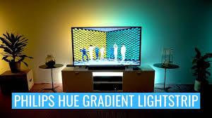 philips hue play gradient lightstrip unboxing setup demonstration