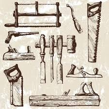 Conjunto De Herramientas Carpinteria Ilustracionon Vectorial Clip Art Vectorizado Woodworking ToolsWoodworking