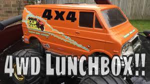 100 Monster Truck Lunch Box Modified Tamiya Vanessas Box 4x4 CW01 Rollin Thunder