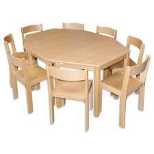 11 teiliges trapezförmiges kindergartenset mit 3 tischen 8 stühlen sitzklasse 3