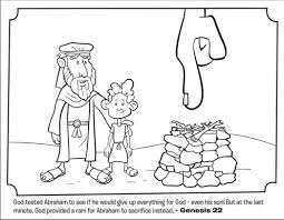 Kids Coloring Page From Whats In The Bible Featuring Abraham And Isaac Genesis 22