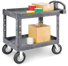 RubbermaidR Utility Carts With Pneumatic Wheels