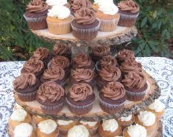 Rustic Cupcake Stand Log Tree Wedding