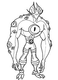 Ben 10 Ultimate Alien Colouring Pages Printable