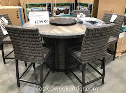 Agio 7-piece High Dining Set With Firetable | Costco Weekender 9 Piece Ding Room Set Costco House Bolton Intended For 6 Sets Canada Cheap Leather Chairs Find Cove Bay Clearance Patio Small Depot Hampton Chair Pike Main 5 Pc Counter Height W Saddle Table Lovely Universal Pin By Annora On Round End Table Outdoor Tables Bayside Furnishings 699 Kitchen Fniture Attached Tablecloth Drawers Home Interior Design
