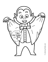 Crazy Vampire Coloring Pages Halloween For Kids Printable Free