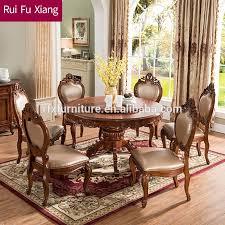 antike drehbare runde holz esstisch für esszimmer möbel aa 217 buy holz runden esstisch leder stühle esszimmer möbel product on alibaba