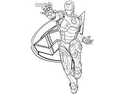 Cartoon Coloring Page Iron Man Avengers Pages