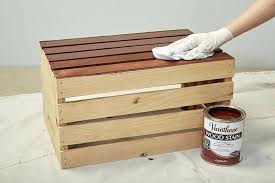 Wooden Crates Step 5 Wipe Away Excess Stain Free London