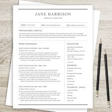 Resume Cover Letter And Reference Page Template Professional CV