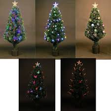 Fibre Optic Christmas Trees Uk by Led Fibre Optic Christmas Tree Pre Lit Xmas Tree 2ft 3ft 3ft