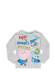 Peppa Pig George Pumpkin Stencil by Clothing At Tesco Peppa Pig George Long Sleeve T Shirt U003e Tops