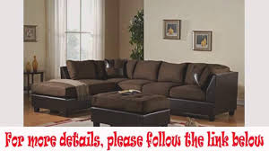 Poundex 3pc Sectional Sofa Set by 3 Piece Modern Reversible Microfiber Faux Leather Sectional Couch