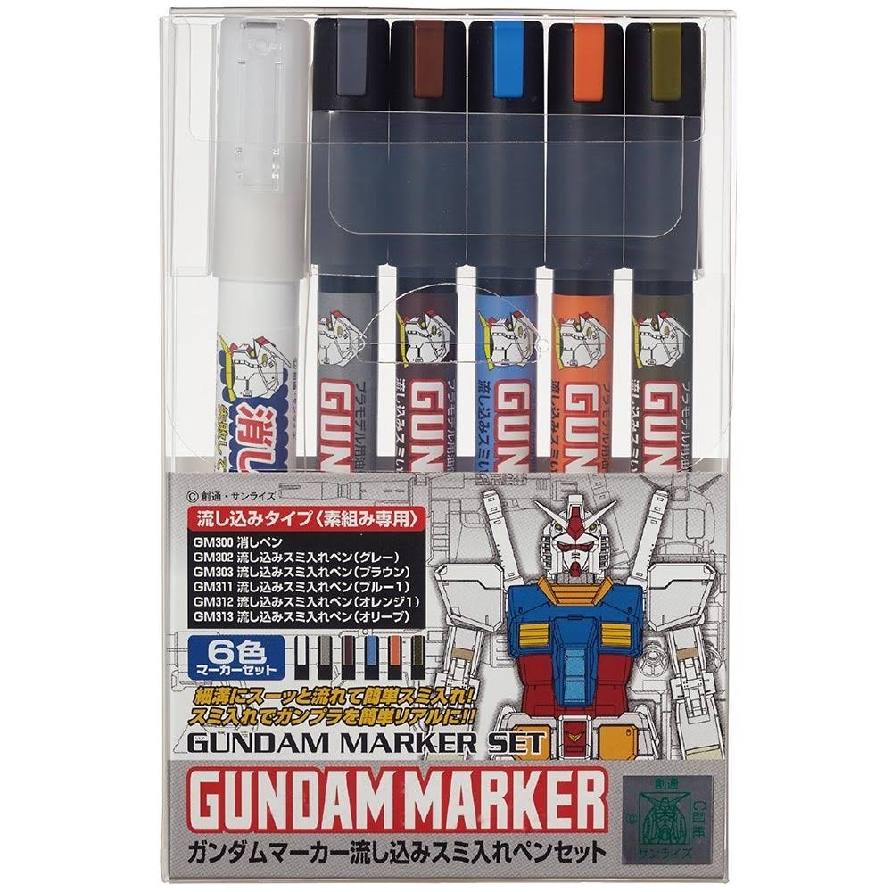 GSI Creos Gundam Marker Pouring Inking Set (GMS122)