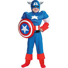 White Halloween Contacts Walmart by Marvel Captain America Muscle Child Halloween Costume Walmart Com