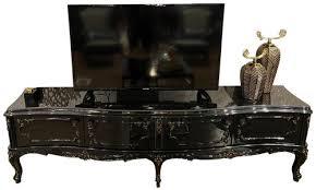 casa padrino luxus barock tv schrank schwarz antik gold 222 x 50 x h 62 cm edler fernsehschrank mit 4 türen und glasplatte hochwertige