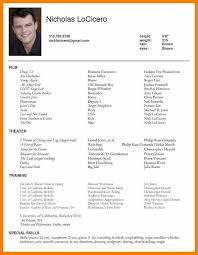 Acting Resumeactors Resume Sample Pretty