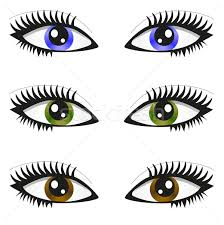 Colouring Pages Eyes Pair Of Page