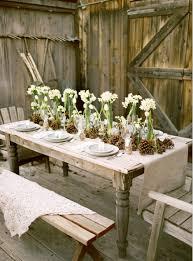 Chic Rustic Tulip Pinecone Centerpieces